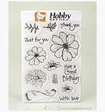 Clear Stamps - Floral Greeting set