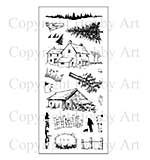 Hobby Art Stamp Set - Old Barn