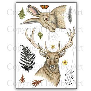 Hobby Art Stamp Set - Stag & Hare