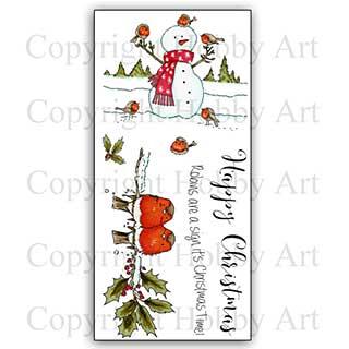 SO: Hobby Art Stamp Set - Snowman & Friends