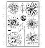 Hobby Art Stamp Set - Abstract Flowers set 1