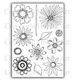 SO: Hobby Art Stamp Set - Abstract Flowers set 2