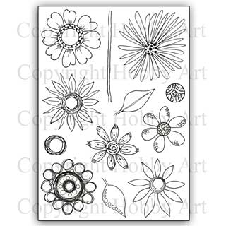 Hobby Art Stamp Set - Abstract Flowers set 2