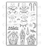 SO: Hobby Art Stamp Set - Gingerbread Christmas