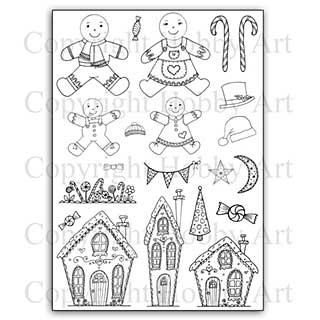 Hobby Art Stamp Set - Gingerbread Christmas