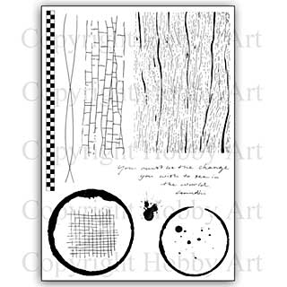 SO: Hobby Art Stamp Set - Becki\'s Backgrounds