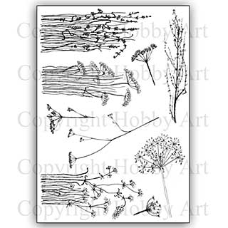 SO: Hobby Art Stamp Set - Janie\'s Wildflowers
