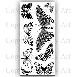 Hobby Art Stamp Set - Janie\'s Butterflies