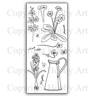 SO: Hobby Art Stamp Set - Floral Garden