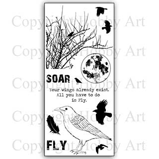 SO: Hobby Art Stamp Set - Take Flight