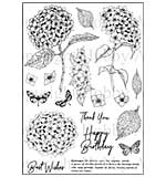 Hobby Art Clear Stamp Set - Janie's Collection - Hydrangea