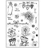Hobby Art Clear Stamp Set - Lisa's Collection - Floral Patchwork
