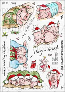 Hobby Art Clear Stamp Set - Sharon\'s Collection - Pigs in Blankets