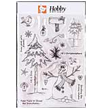 Hobby Art Clear Stamp Set - Lisa's Collection - Snowy Wishes