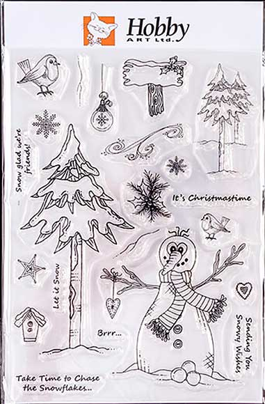 Hobby Art Clear Stamp Set - Lisa\'s Collection - Snowy Wishes