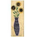 Striped Vase Flowers [D]