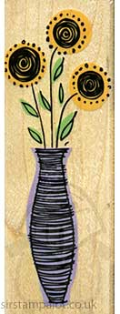 SO: Striped Vase Flowers [D]