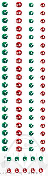 SO: Gemstones - Green and Red (88 assorted) 3mm and 5mm