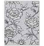Hero Arts Cling Stamps 4.75x5.75 - Large Flower Background