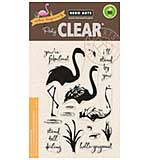 PRE: Hero Arts Clear Stamps - Colour Layering Flamingo