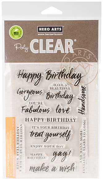 Hero Arts Clear Stamps - Birthday Messages