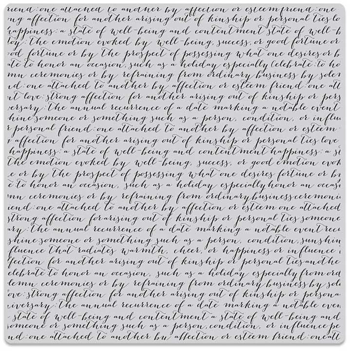 SO: Hero Arts Cling Stamps - Script Bold Prints