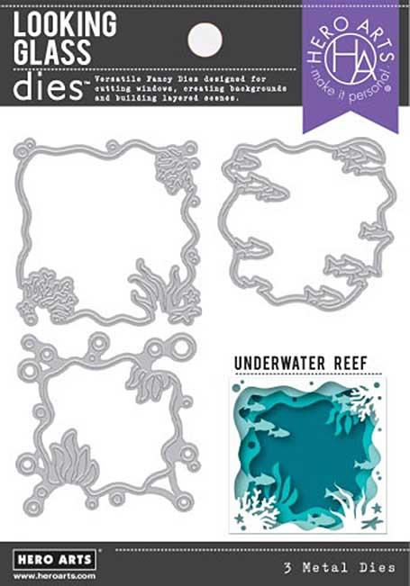 Hero Arts Fancy Dies - Looking Glass Underwater Reef