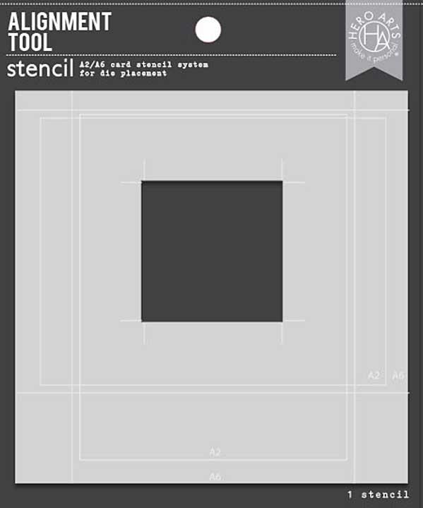 Hero Arts Alignment Tool Stencil - A2 & A6