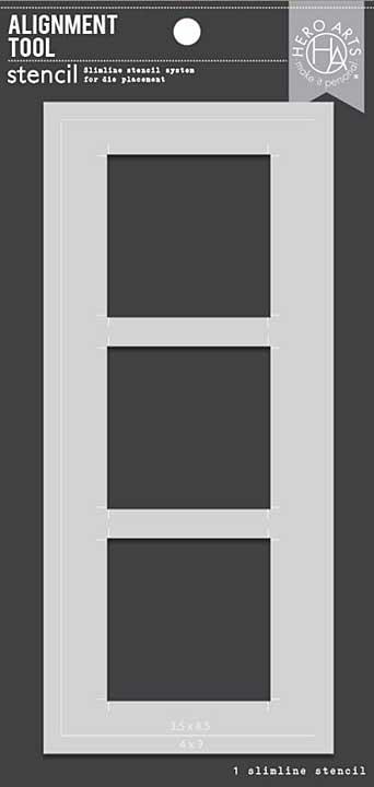 Hero Arts Alignment Tool Stencil - Slimline