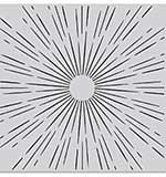 Hero Arts Cling Stamps 6X6 - Sun Ray Bold Prints