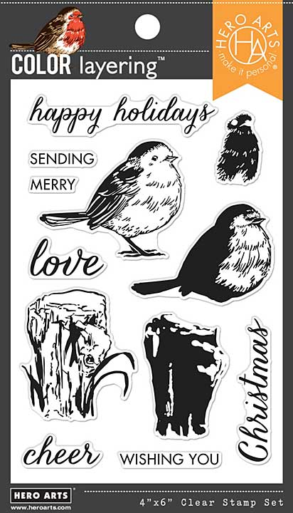 Hero Arts Clear Stamps - Color Layering Robin