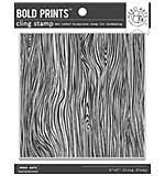 Hero Arts Cling Stamps - Woodgrain Bold Prints (6x6)
