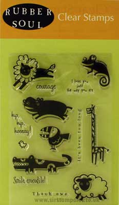 Rubber Soul Clear Stamps - A Day At The Zoo