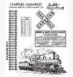 SO: Tim Holtz EZ Mount Stamp Set - On the Railroad