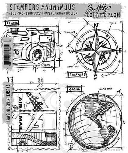 SO: Tim Holtz EZ Mount Stamp Set - Travel Blueprint