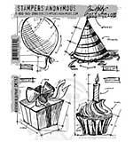 Tim Holtz EZ Mount Stamp Set - Birthday Blueprint