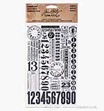 Tim Holtz - Idea-ology - Remnant Rubons - Numbers