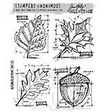 SO: Tim Holtz EZ Mount Stamp Set - Autumn Blueprint