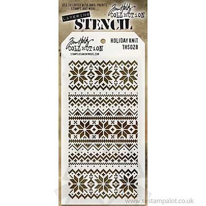 SO: Tim Holtz Layering Stencil - Holiday Knit
