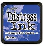 Distress Mini Ink Pad - Blueprint Sketch