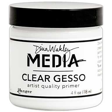 SO: Dina Wakley Media Gesso 4oz Jar - Clear