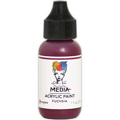SO: Dina Wakley Media Acrylic Paint 1oz - Fuchsia
