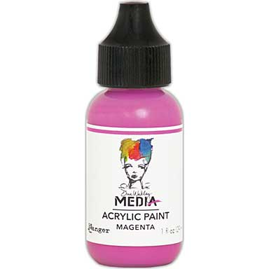 SO: Dina Wakley Media Acrylic Paint 1oz - Magenta