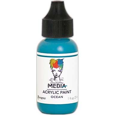 SO: Dina Wakley Media Acrylic Paint 1oz - Ocean