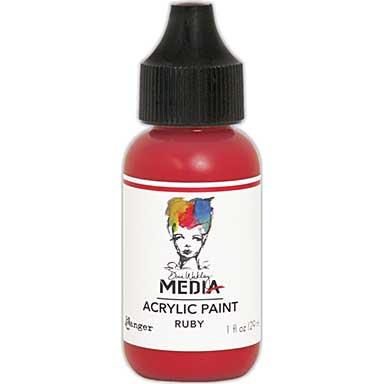 SO: Dina Wakley Media Acrylic Paint 1oz - Ruby