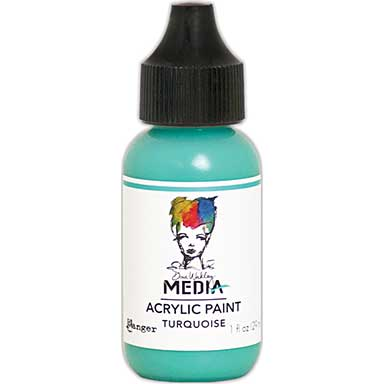 SO: Dina Wakley Media Acrylic Paint 1oz - Turquoise