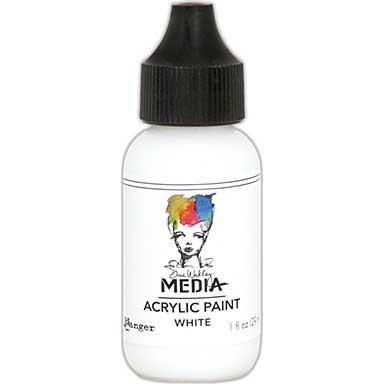SO: Dina Wakley Media Acrylic Paint 1oz - White