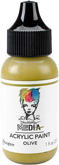SO: Dina Wakley Media Acrylic Paint 1oz - Olive