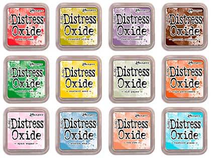 SO: Tim Holtz Distress Oxides Fullsize Inkpad Set #4 (12 Colours) [OX1807]