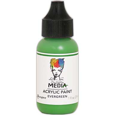 SO: Dina Wakley Media Acrylic Paint 1oz - Evergreen